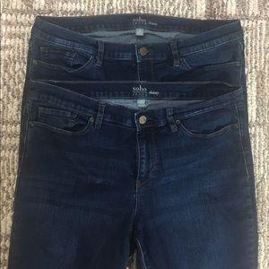 🌼NY&C🌼 2 pairs of Dark Skinny Jeans